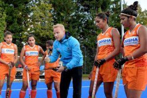 Chief Coach Sjoerd Marijne training 5 members of Indian Womens Hockey Team