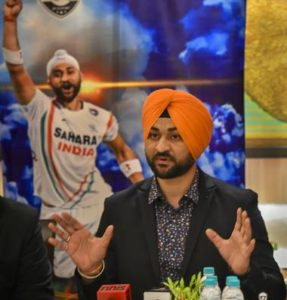 FORMER HOCKEY CAPTAIN SANDEEP SINGH ADDRESSING PRESS MEET