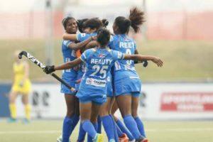 Indian-Junior-Womens-Hockey-Team-celebrate-scoring-a-goal-