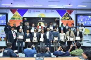 FICCI India sports award 2019 winners on the stage