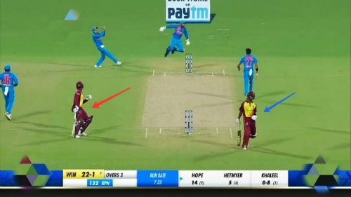 IND-WI-CRICKET-GAME-WITH-BOTH -WI-BATSMAN-IN-SAME-CREASE-FUNNY-RUNOUT