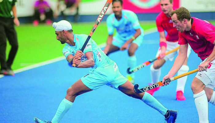 mandeep-singh-hockey-star-taking-an-angle-to-hit-the-ball