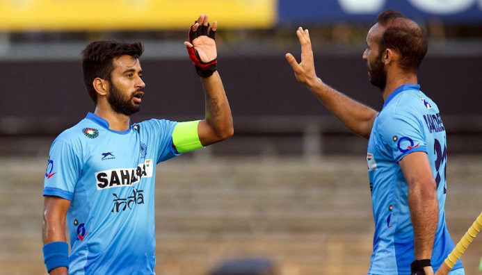 ramandeep-singh-with-teammates-celebrating-a-goal-with-captain-manpreet-singh