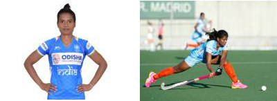 two-pics-in-one-frame-showing-indian-womens-hockey-defender-sunita-lakra-close-up-and-in-action