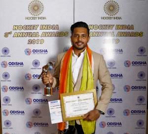 Harmanpreet-Singh-wins-Hockey-India-Pargat-Singh-Award-for-Defender-of-the-Year-2019
