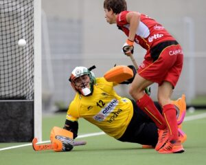 Indian-hockey-goalkeepr-Krishan-Bahadur-Pathak-saving-a-goal