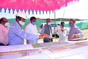 officials-inscpecting-preparations-for-hockey-tournament