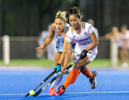 Indian-women-hockey-team-player-in-action