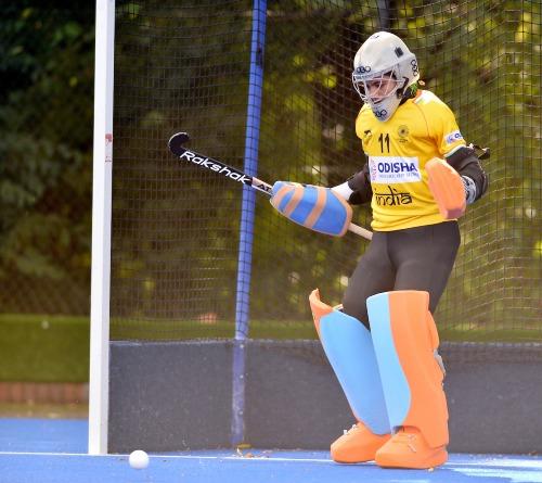 indian-womens-hockey-team-goalkeeper-savita-during-practice-under-goalpost