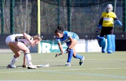 Indian-Womens-Hockey-Teams-Monika-in-action-against-Germany