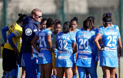 Indian-Womens-hockey-team-coach-Sjoerd-Marijne-with-his-team-in-Germany